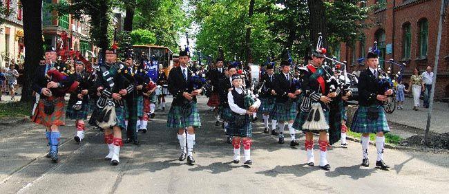 Częstochowa Pipes & Drums na Dniach Celtyckich