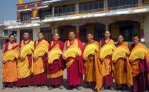 Tybetańscy mnisi z klasztoru Drepung