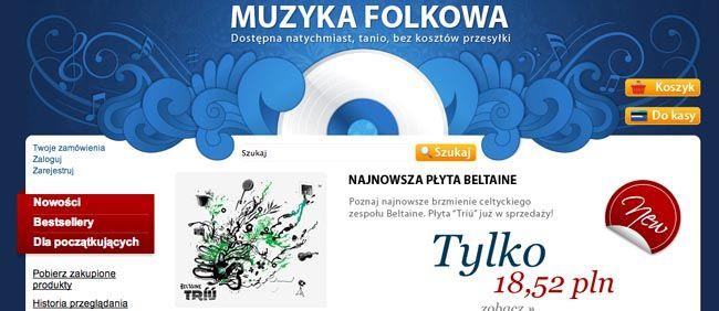 Witryna sklepu Folk24